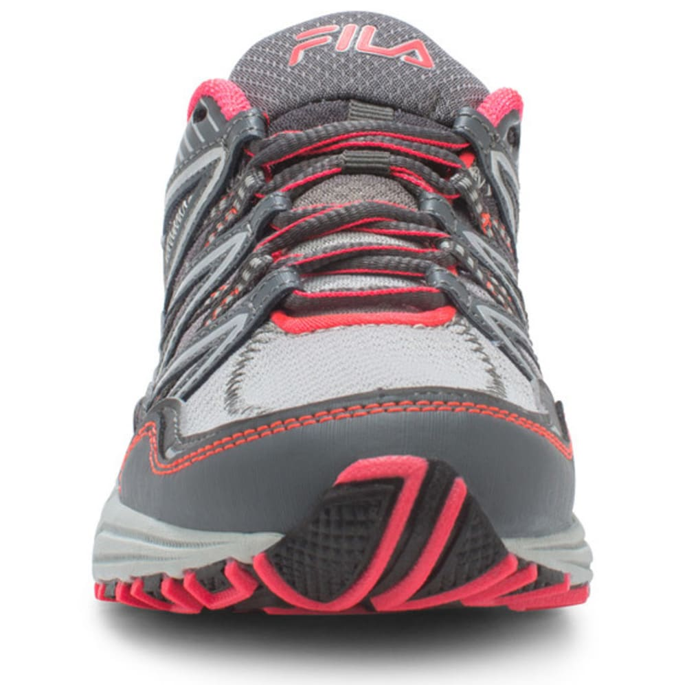 FILA Women's Headway 6 Trail Running Shoes, Silver/Grey/Pink - GREY