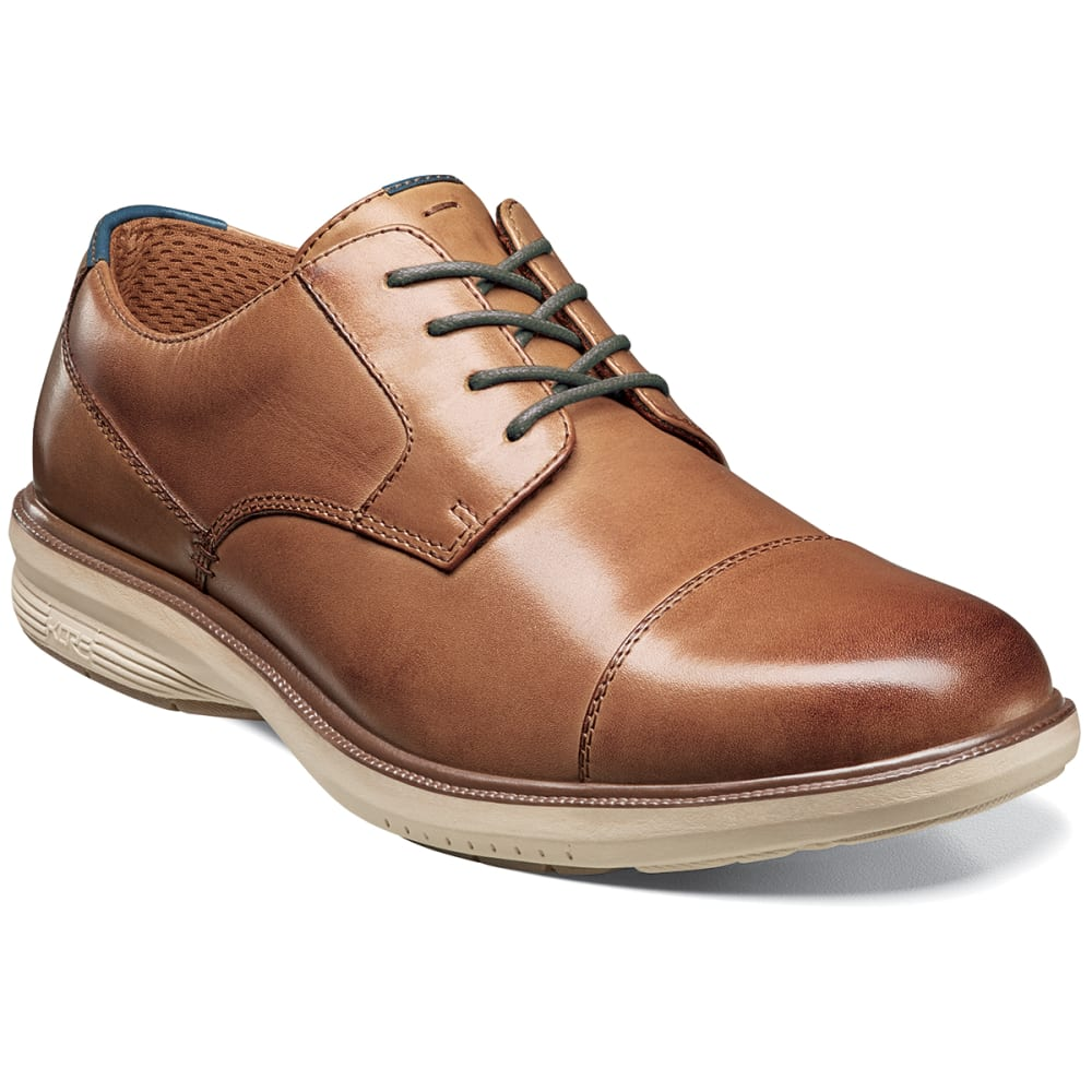 NUNN BUSH Men's Melvin Street Cap Toe Oxford Dress Shoes - CAMEL
