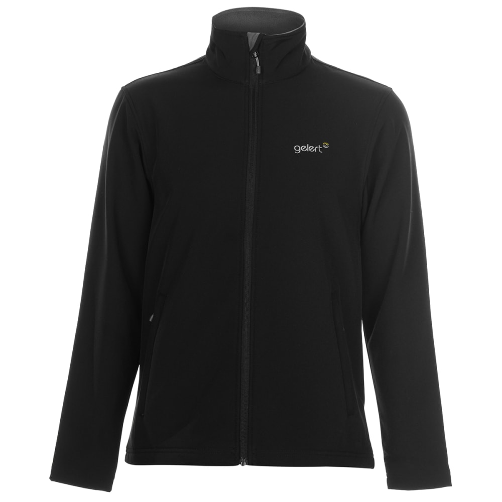 GELERT Men's Softshell Jacket - BLACK