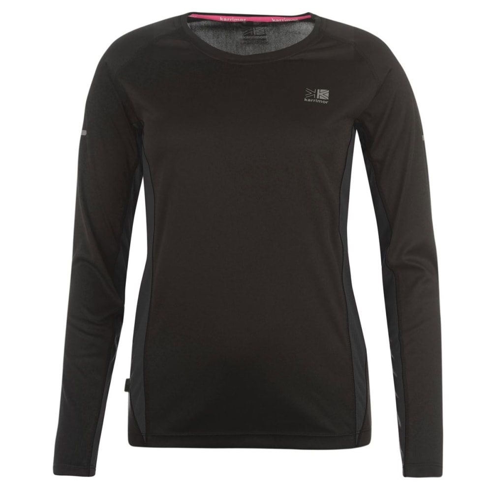KARRIMOR Women's Running Long-Sleeve Tee - BLACK