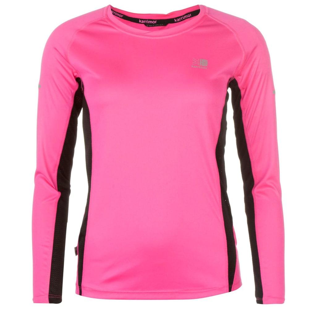KARRIMOR Women's Running Long-Sleeve Tee - FLUO PINK