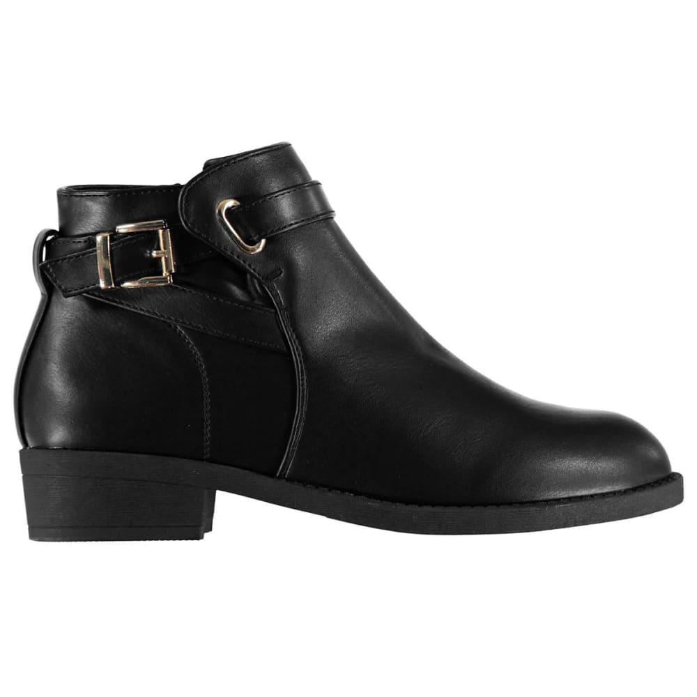 MISO Women's Buckle Booties - BLACK