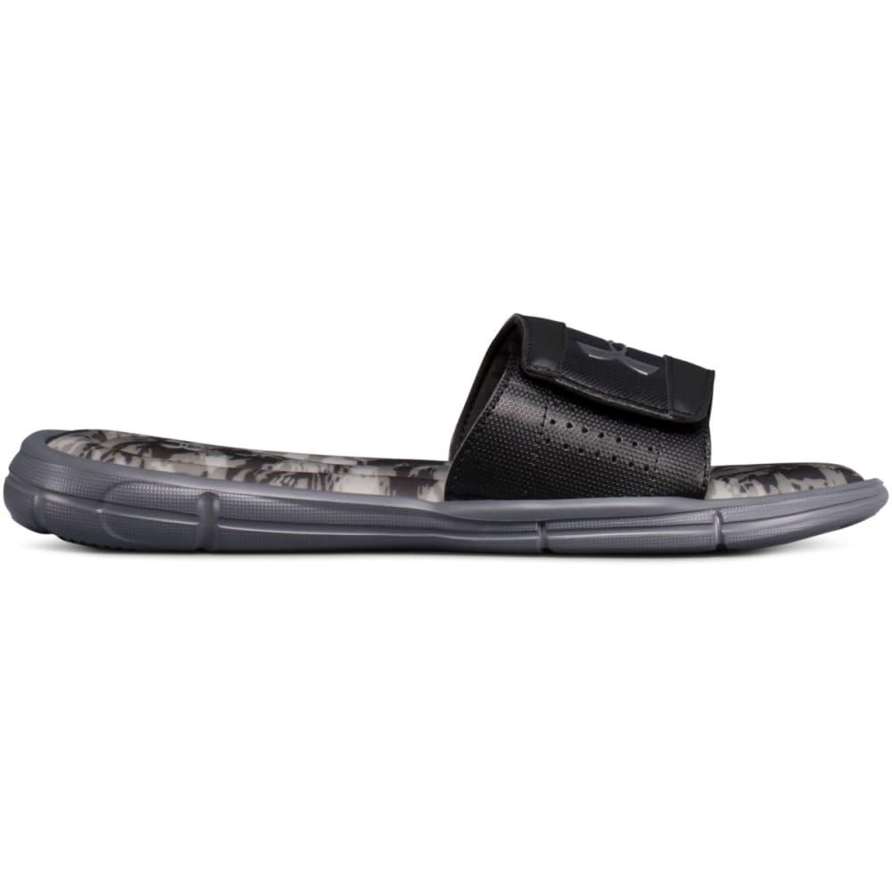 UNDER ARMOUR Men's UA Ignite V Breaker Slide Sandals - BLACK-001