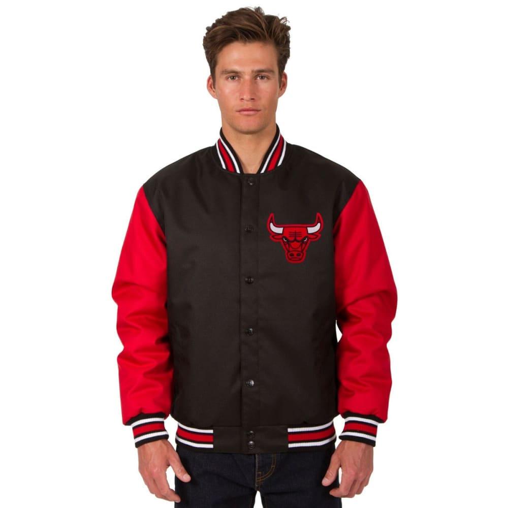 CHICAGO BULLS Men's Poly Twill Logo Jacket - BLACK-RED