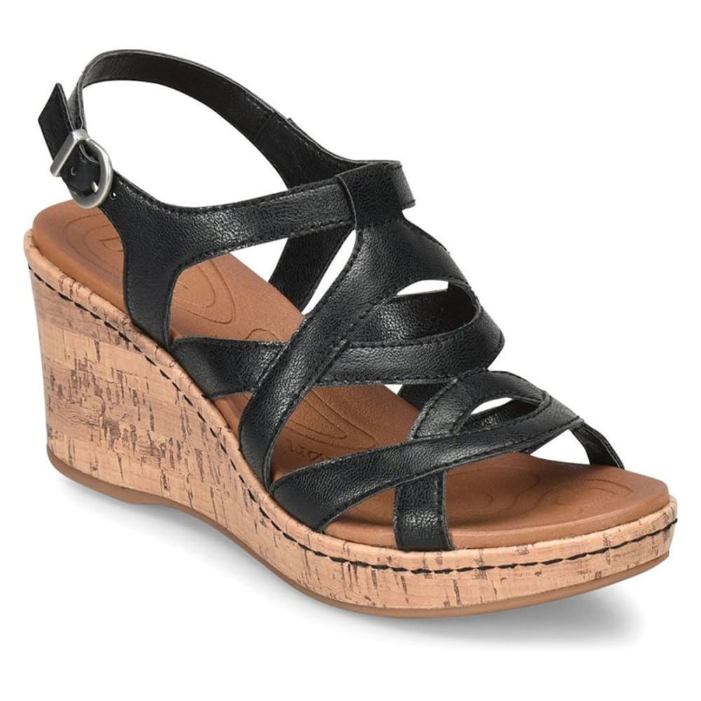 B.O.C. Women's Lynette Wedge Sandals - BLACK