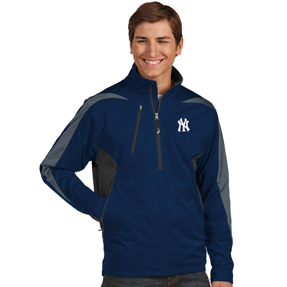 NEW YORK YANKEES Men's Discover Half Zip Jacket - NAVY