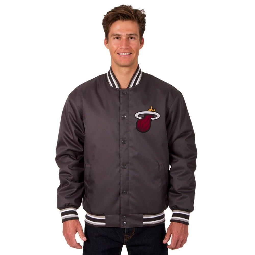 MIAMI HEAT Men's Poly Twill Logo Jacket - CHARCOAL