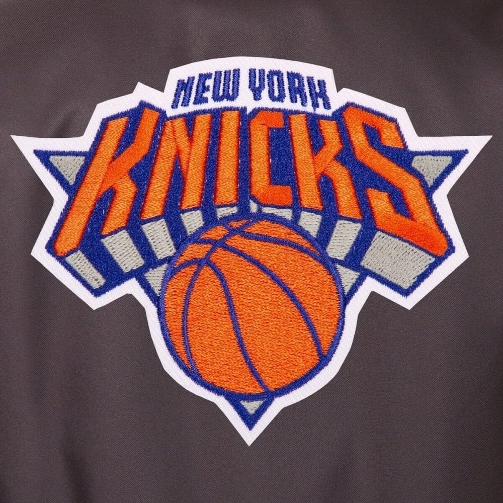 NEW YORK KNICKS Men's Poly Twill Logo Jacket - CHARCOAL