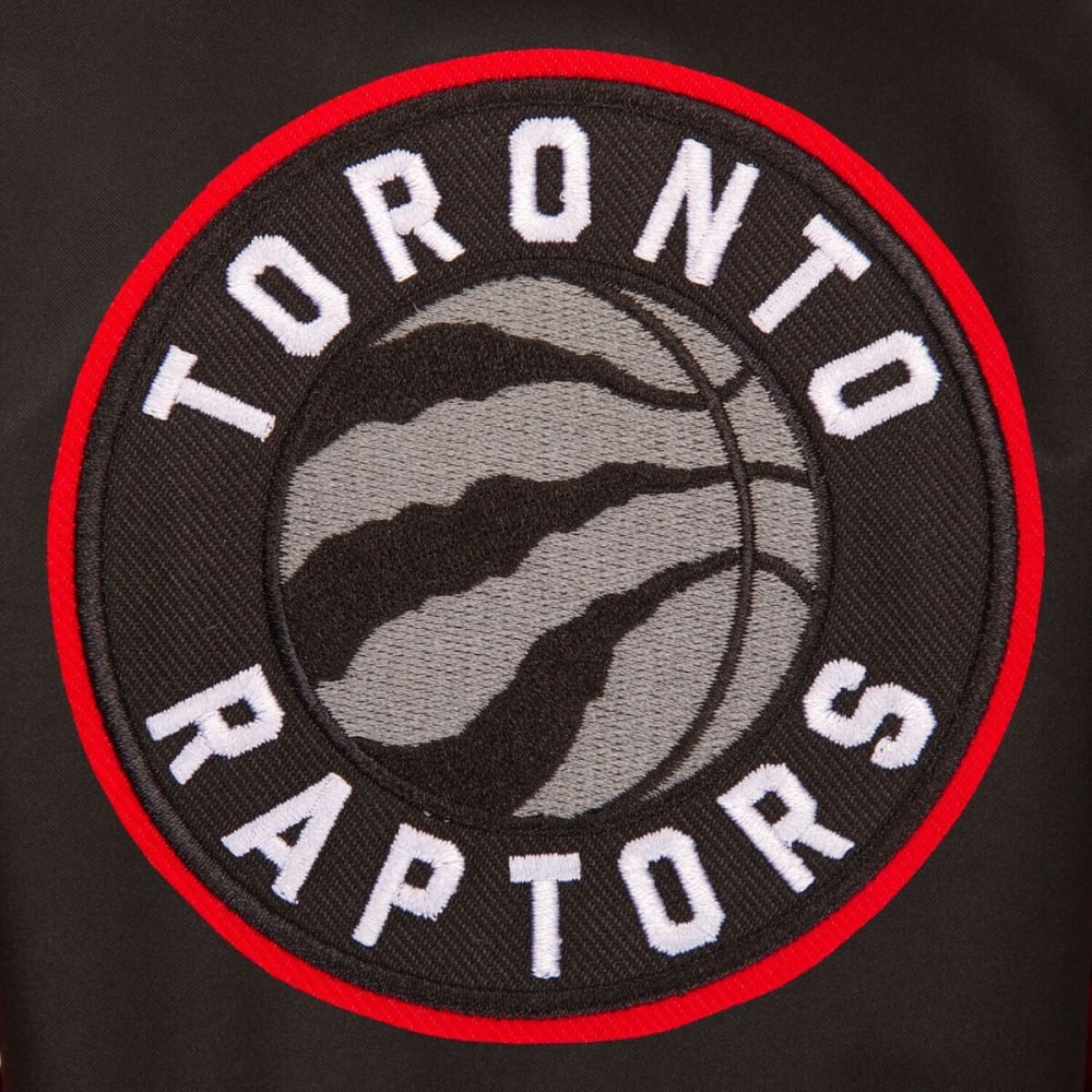 TORONTO RAPTORS Men's Poly Twill Logo Jacket - BLACK-RED