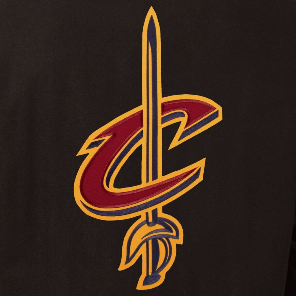 CLEVELAND CAVALIERS Men's Reversible Wool and Leather Jacket - BLACK