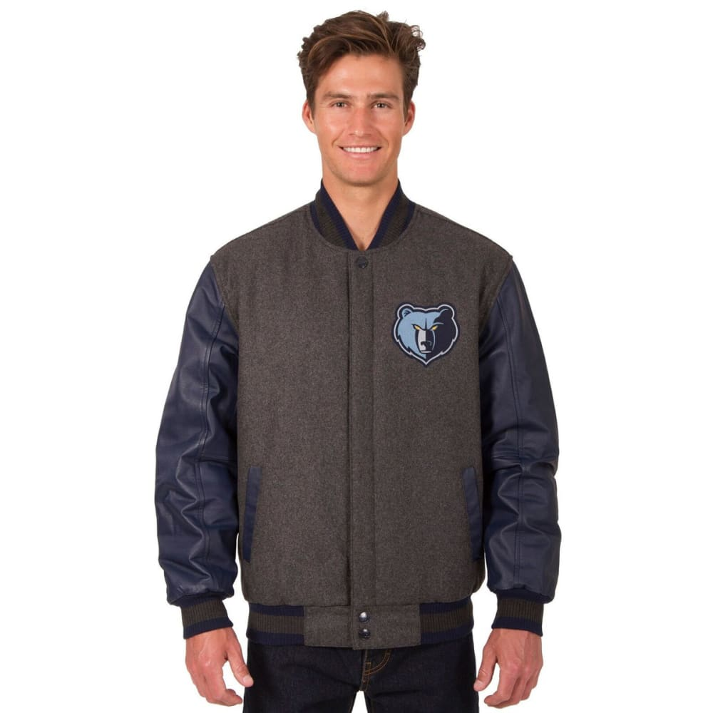MEMPHIS GRIZZLIES Men's Reversible Wool and Leather Jacket S
