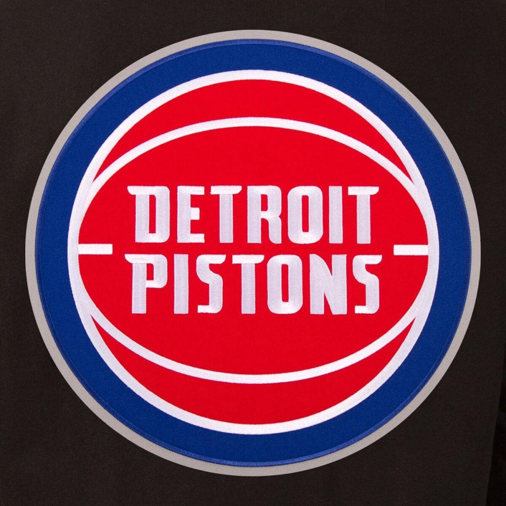 DETROIT PISTONS Men's Reversible Wool and Leather Jacket - BLACK