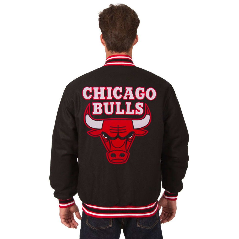 CHICAGO BULLS Men's Reversible Wool Jacket - BLACK