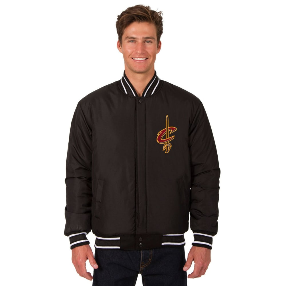 CLEVELAND CAVALIERS Men's Reversible Wool Jacket - BLACK