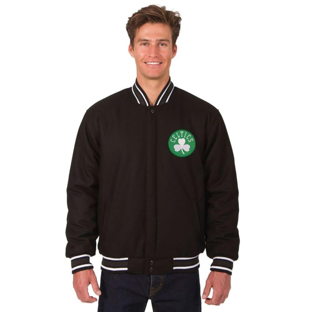 BOSTON CELTICS Men's Reversible Wool Jacket - BLACK