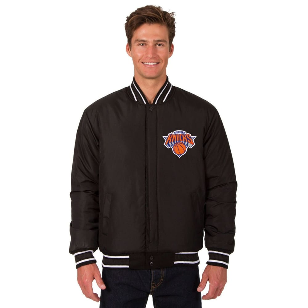 NEW YORK KNICKS Men's Reversible Wool Jacket - BLACK
