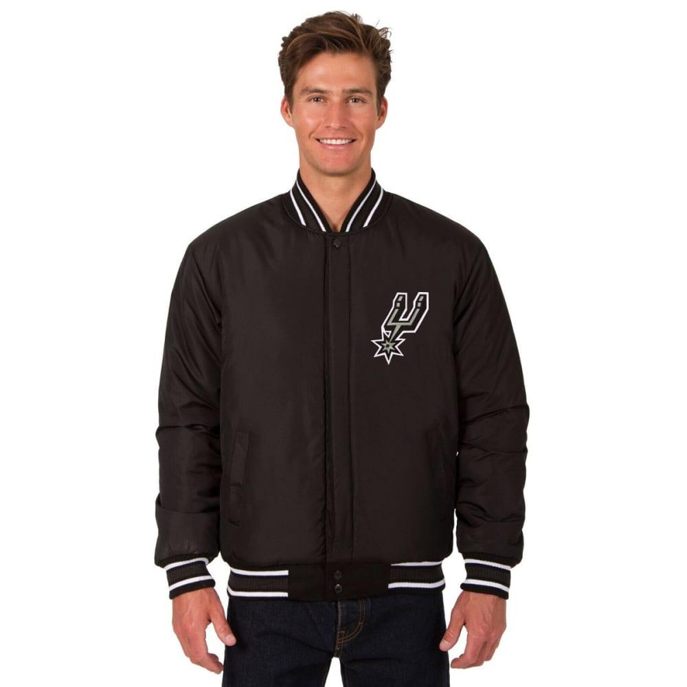 SAN ANTONIO SPURS Men's Reversible Wool Jacket - BLACK