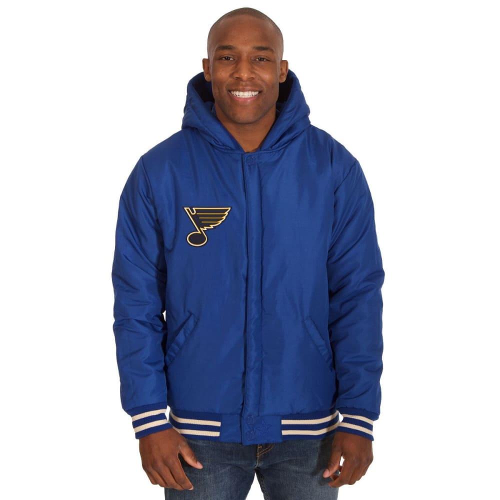 ST. LOUIS BLUES Men's Reversible Fleece Hooded Jacket - ROYAL-CREAM