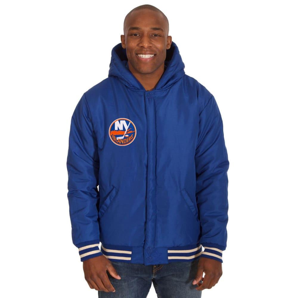 NEW YORK ISLANDERS Men's Reversible Fleece Hooded Jacket - ROYAL-CREAM