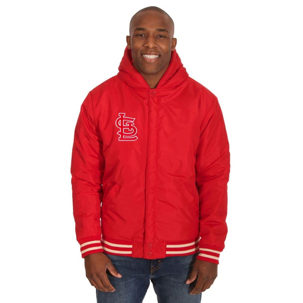 ST. LOUIS CARDINALS Men's Reversible Fleece Hooded Jacket - RED-CREAM