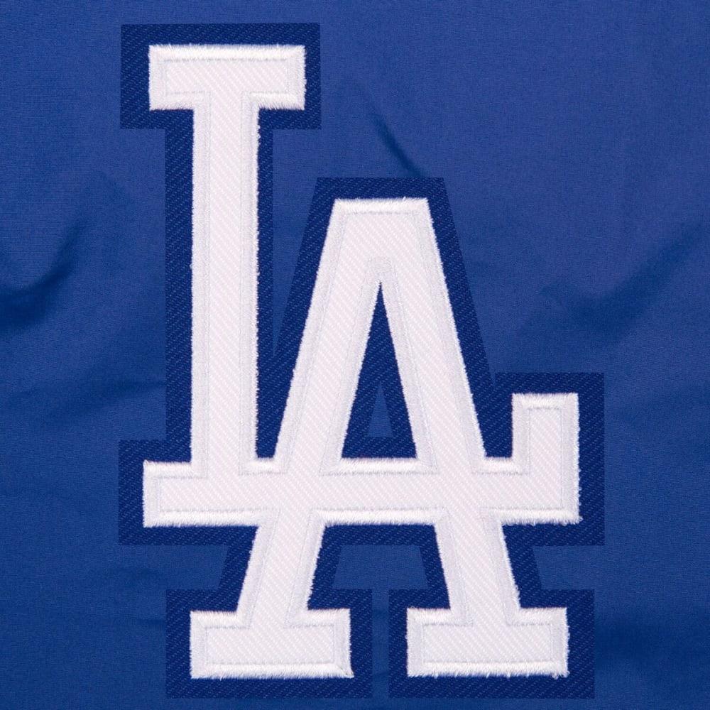 LOS ANGELES DODGERS Men's Reversible Fleece Hooded Jacket - ROYAL-CREAM