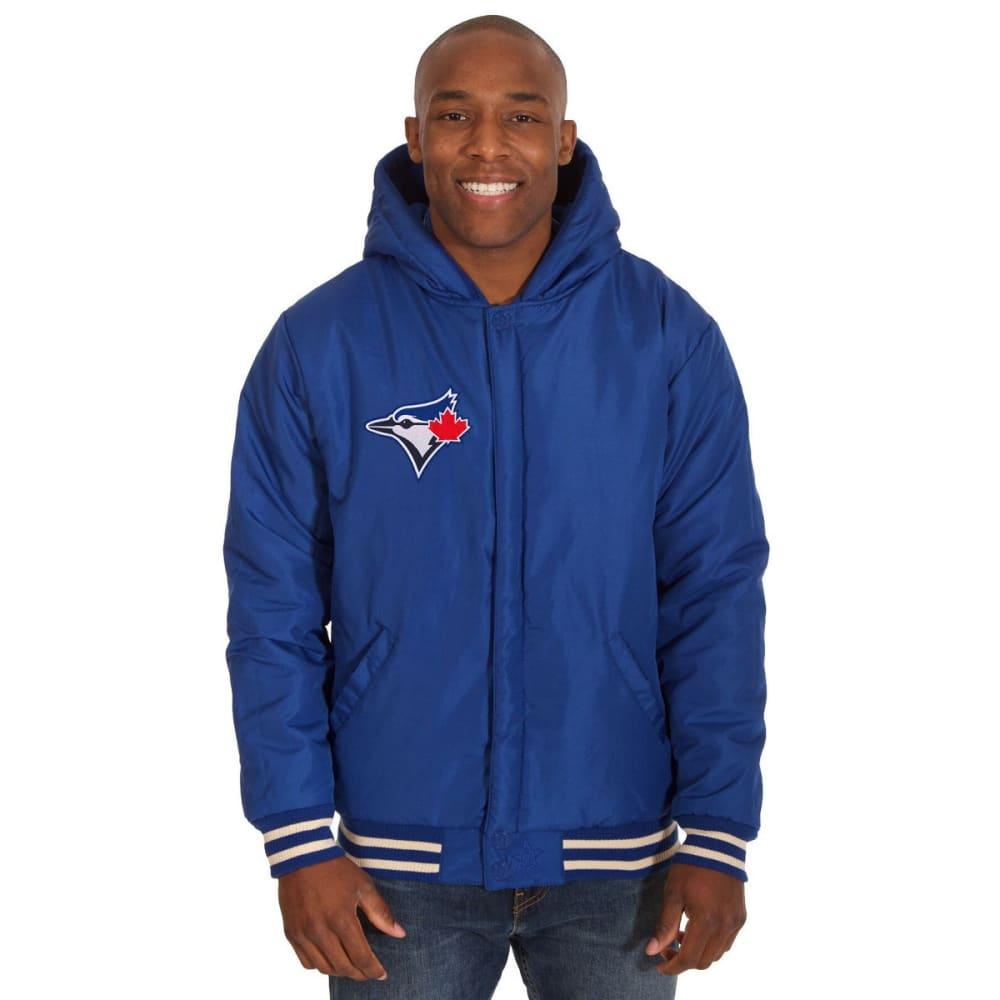 TORONTO BLUE JAYS Men's Reversible Fleece Hooded Jacket - ROYAL-CREAM