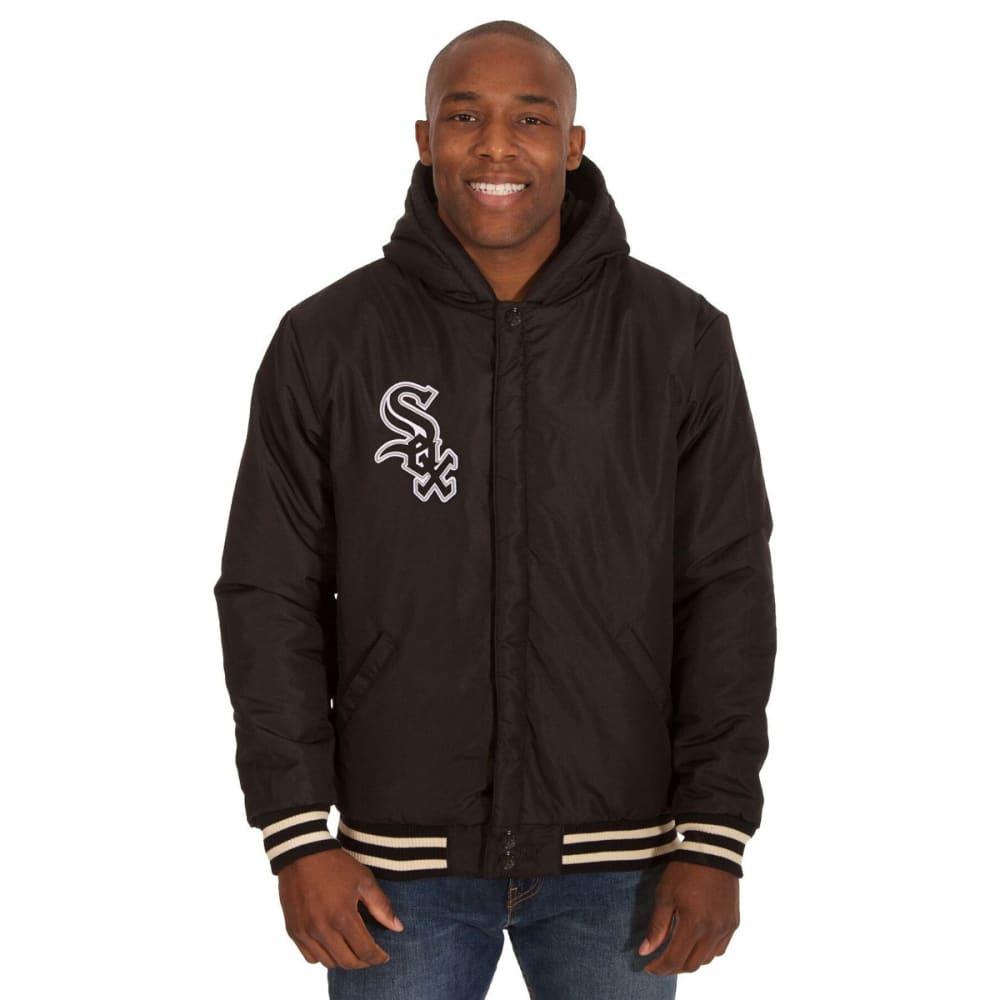 DETROIT TIGERS Men's Reversible Fleece Hooded Jacket - NAVY-CREAM