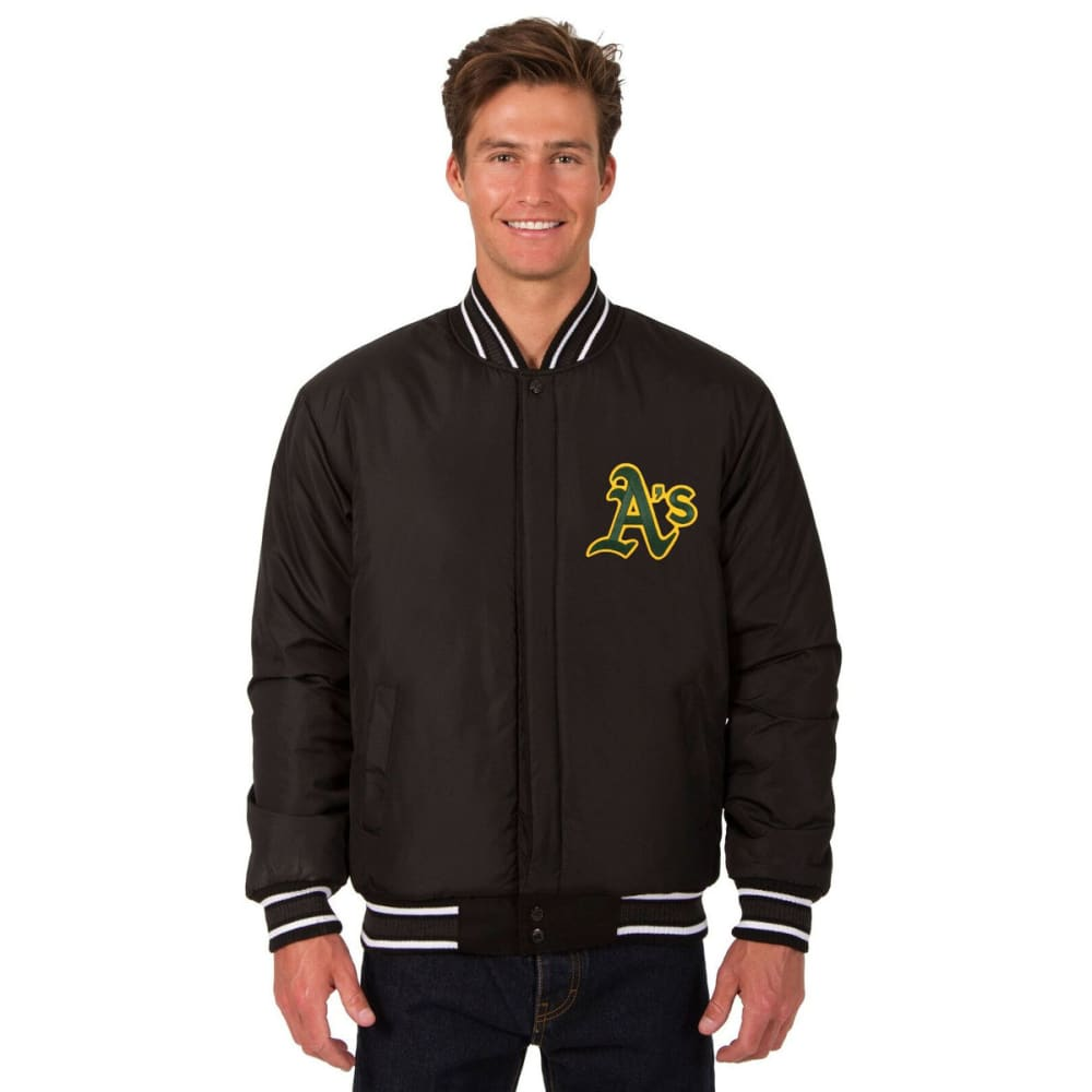 OAKLAND ATHLETICS Men's Reversible Wool Jacket - BLACK