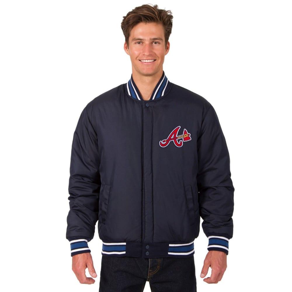 ATLANTA BRAVES Men's Reversible Wool Jacket - NAVY