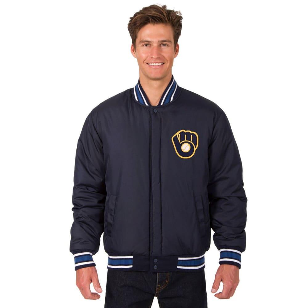 MILWAUKEE BREWERS Men's Reversible Wool Jacket - NAVY