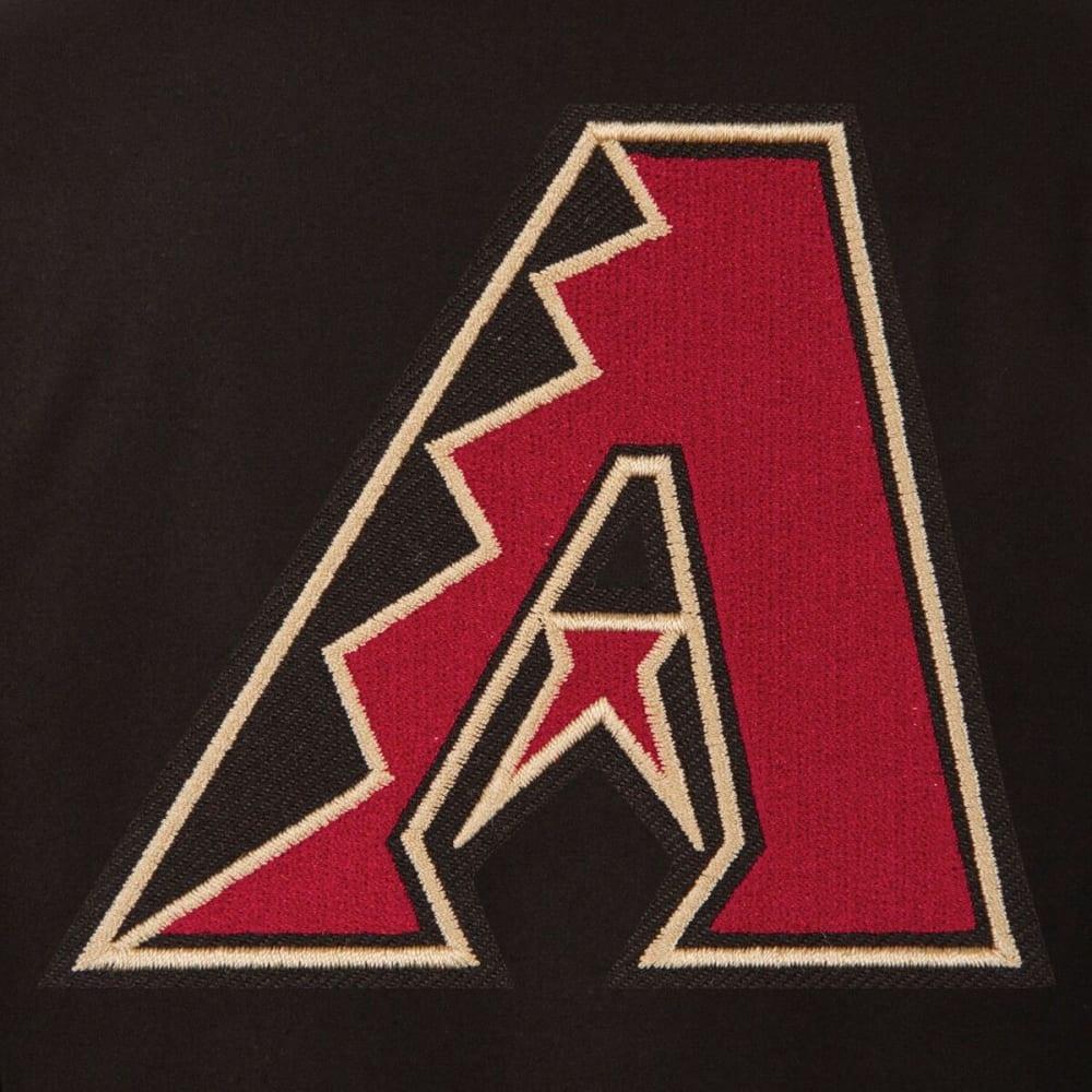 ARIZONA DIAMONDBACKS Men's Reversible Wool Jacket - BLACK-RED