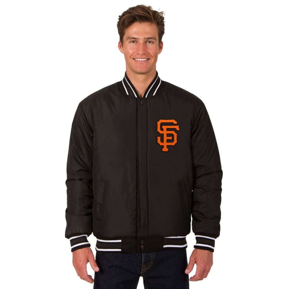 SAN FRANCISCO GIANTS Men's Reversible Wool Jacket - BLACK