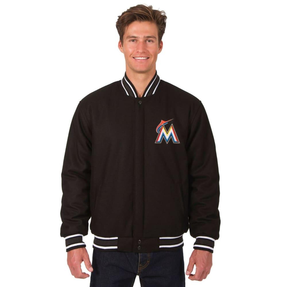 MIAMI MARLINS Men's Reversible Wool Jacket - BLACK