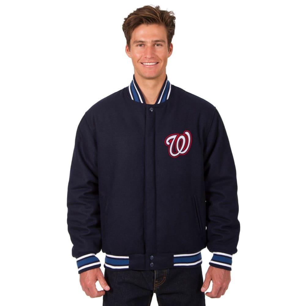 WASHINGTON NATIONALS Men's Reversible Wool Jacket - NAVY