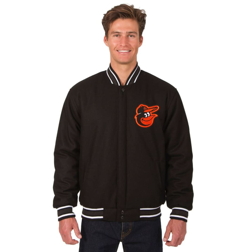 BALTIMORE ORIOLES Men's Reversible Wool Jacket - BLACK