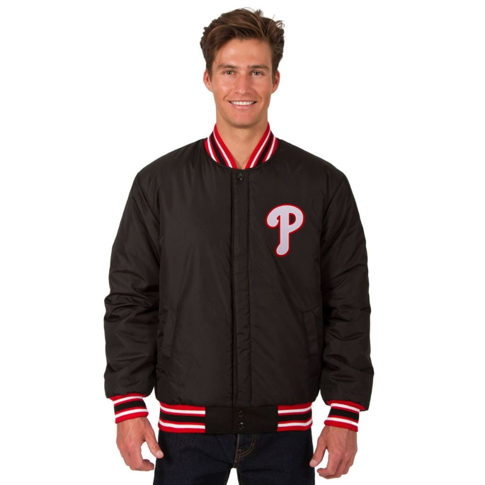 PHILADELPHIA PHILLIES Men's Reversible Wool Jacket - BLACK-RED