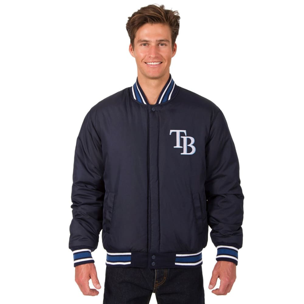 TAMPA BAY RAYS Men's Reversible Wool Jacket - NAVY