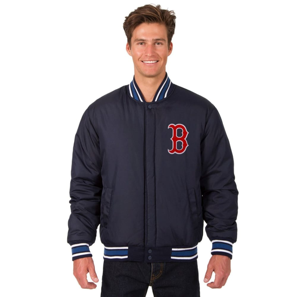 BOSTON RED SOX Men's Reversible Wool Jacket - NAVY