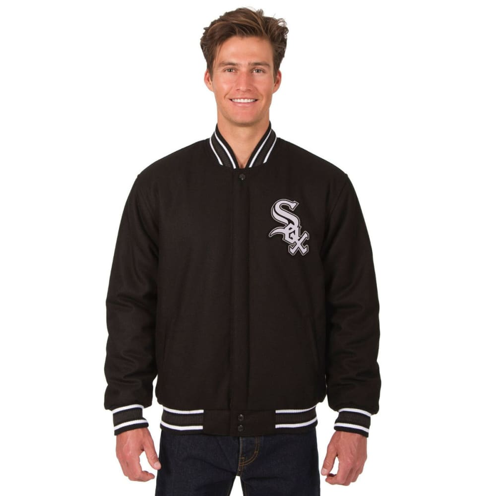CHICAGO WHITE SOX Men's Reversible Wool Jacket - BLACK