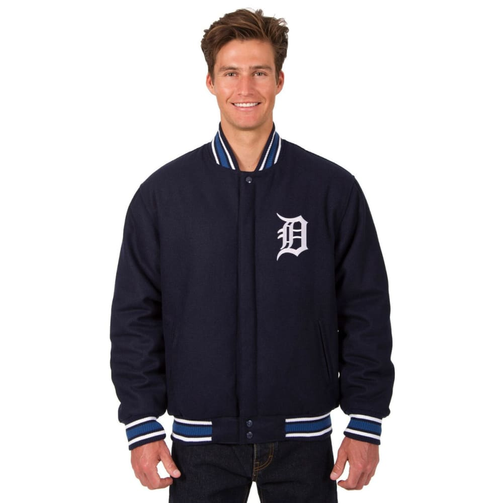 DETROIT TIGERS Men's Reversible Wool Jacket - NAVY