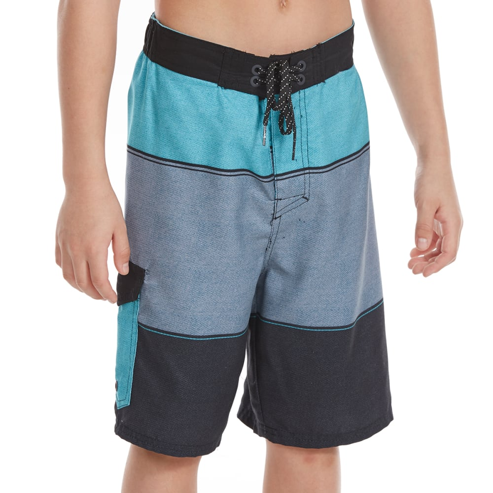 OCEAN CURRENT Boys' Vector Boardshorts - TEAL
