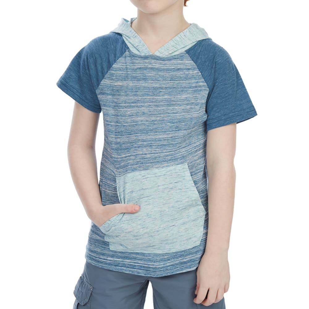 OCEAN CURRENT Little Boys' Voyage Hooded Short-Sleeve Tee - DEEP SEA