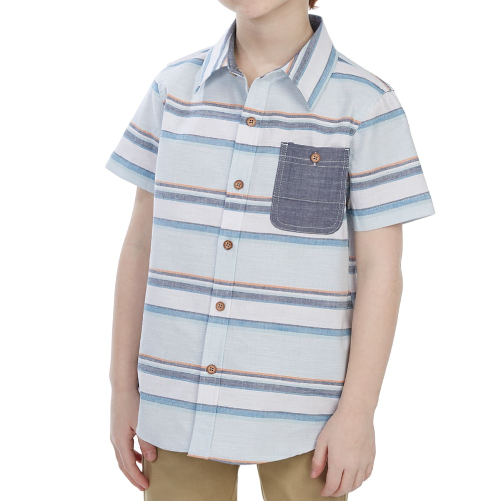 OCEAN CURRENT Little Boys' Mykonoa Poplin Woven Short-Sleeve Shirt - VENICE