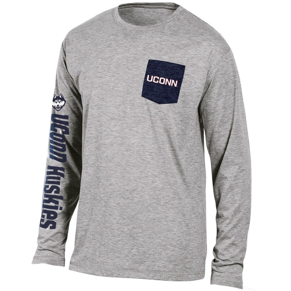 UCONN Men's Extra Point Long-Sleeve Tee - GREY