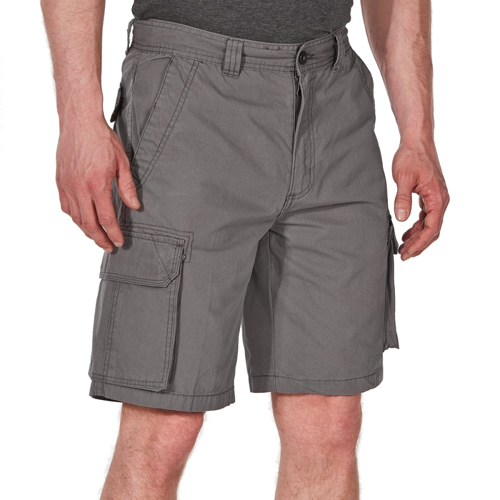 RUGGED TRAILS Men's Canvas Cargo Shorts - SLATE GREY