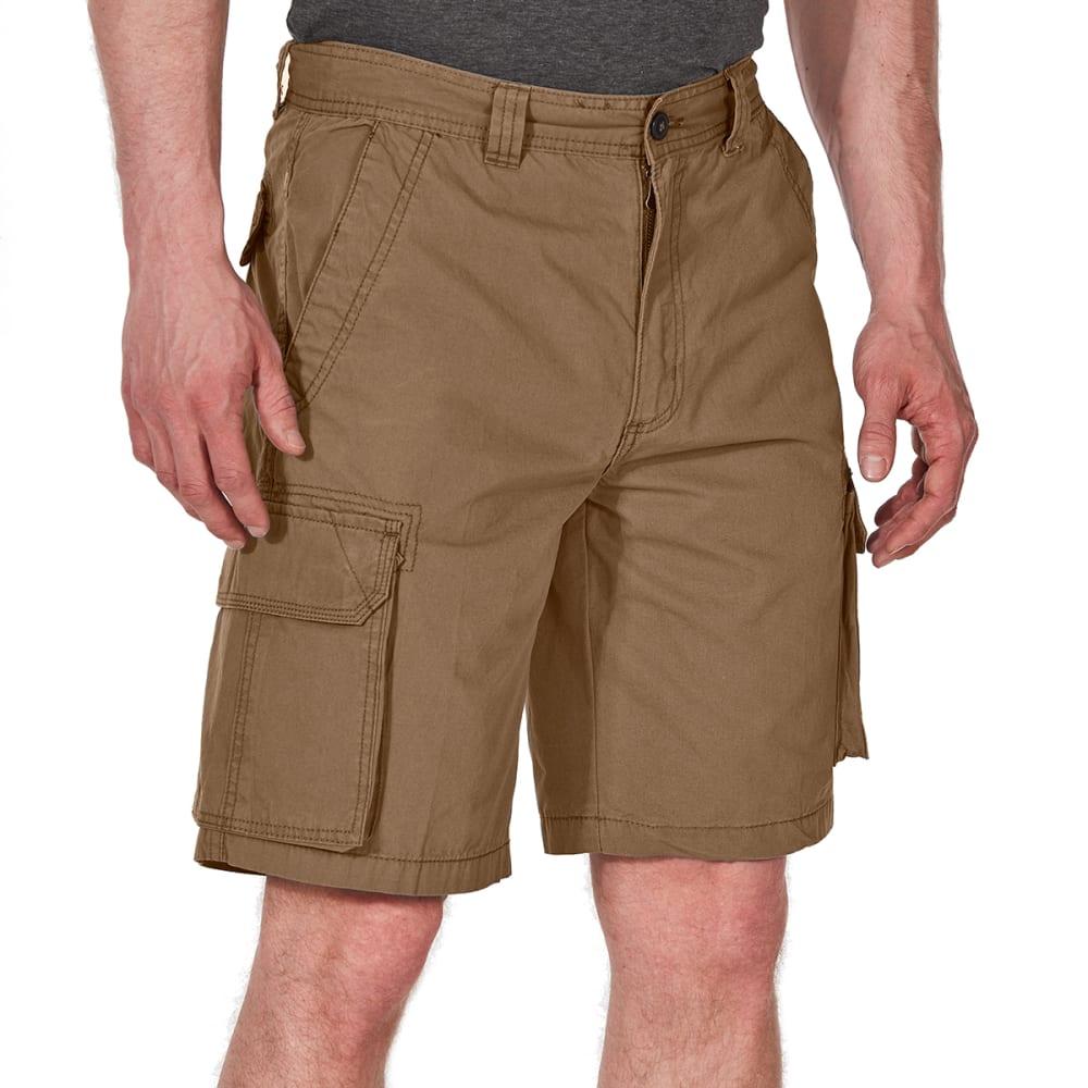 RUGGED TRAILS Men's Canvas Cargo Shorts - DESERT CAMEL