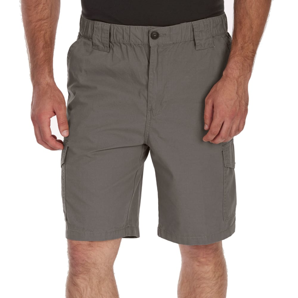 Rugged Trails Men's Canvas Elastic Waist Hiking Shorts - Black, 42