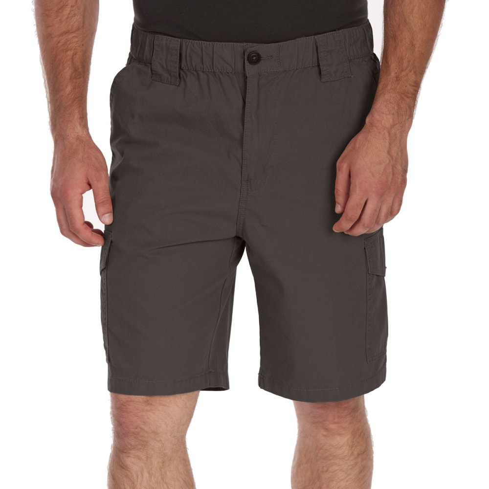 Rugged Trails Men's Canvas Elastic Waist Hiking Shorts - Green, 32