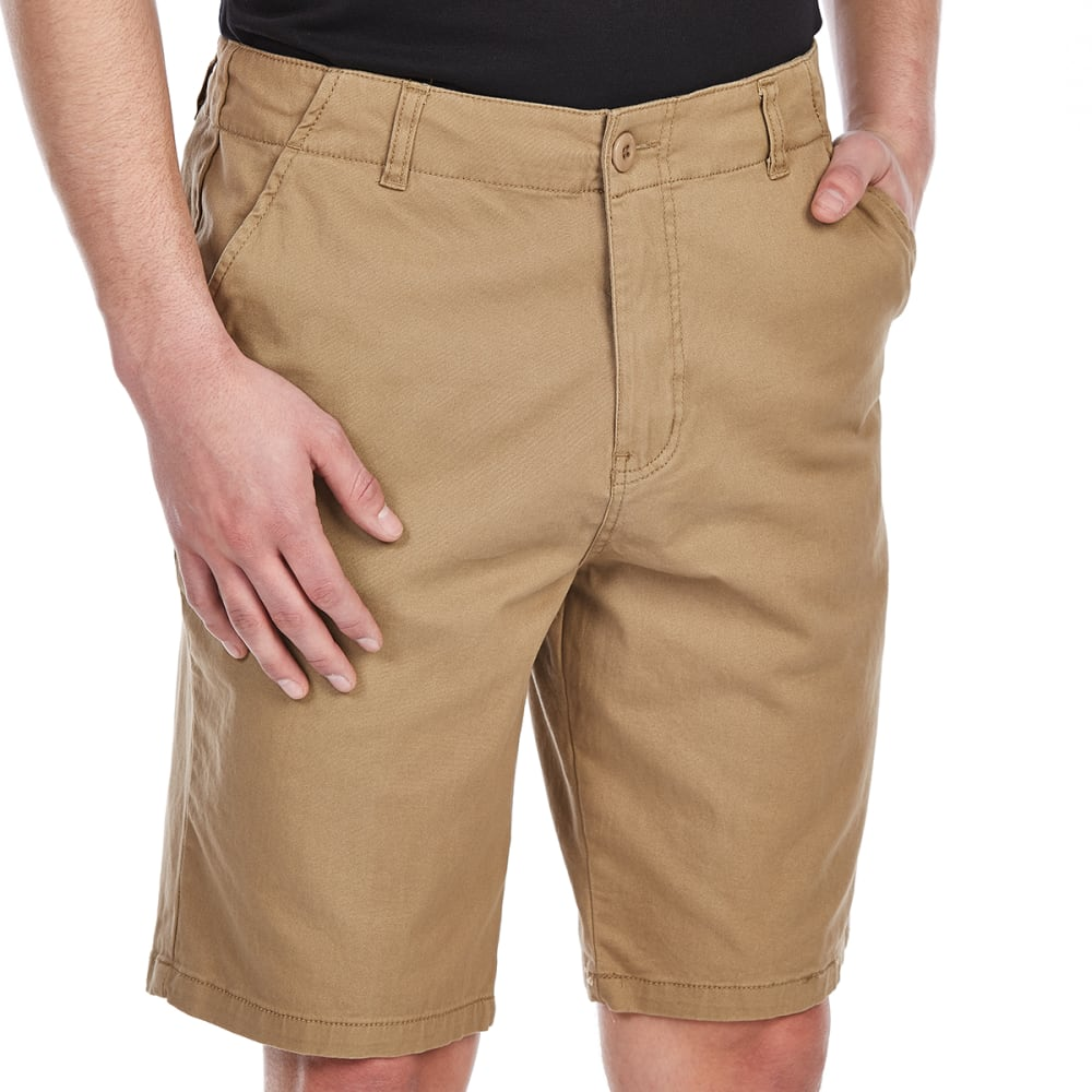 D55 Guys' Stretch Twill Flat Front Shorts - DESERT CAMEL