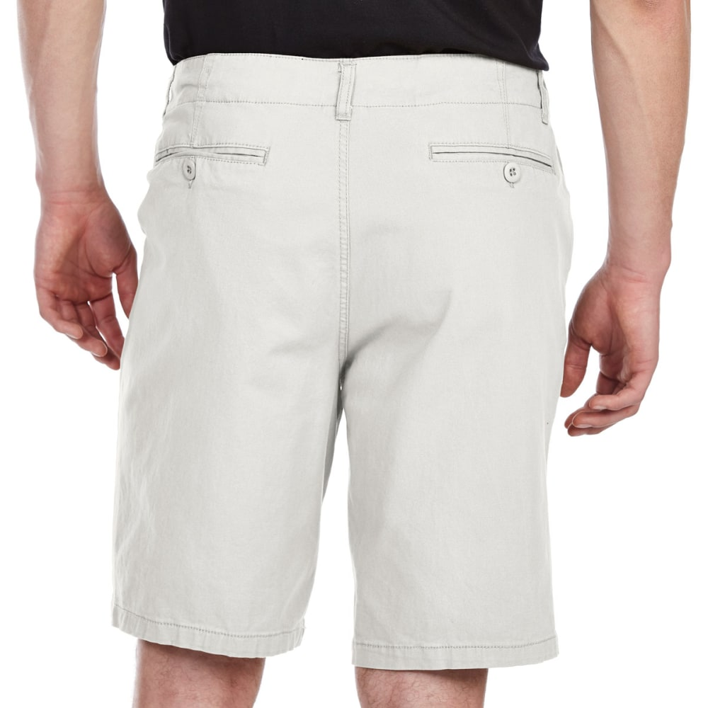 D55 Guys' Stretch Twill Flat Front Shorts - STONE